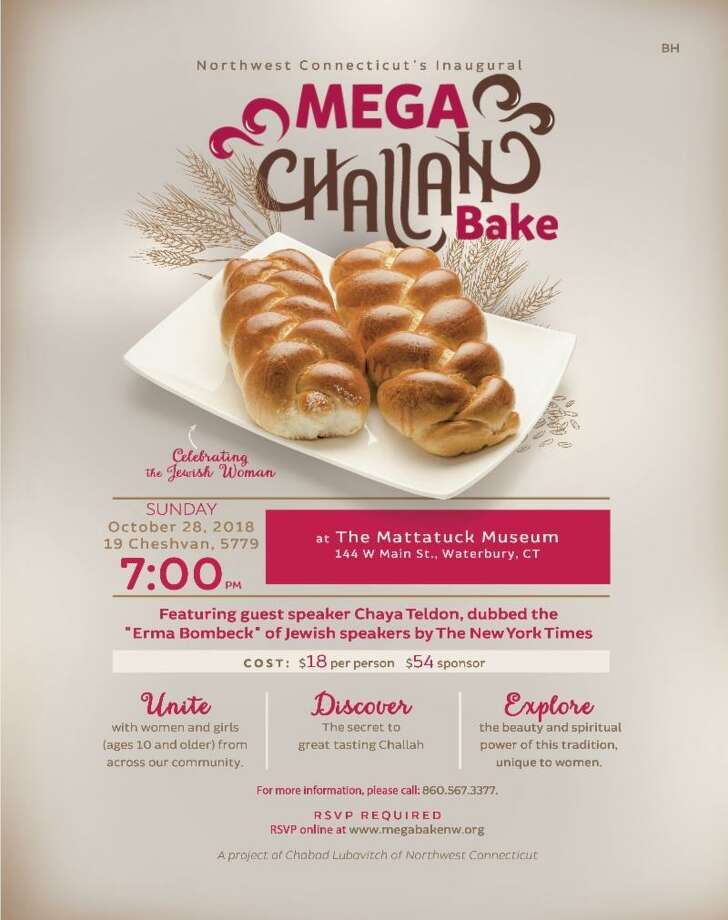 Chabad Lubavitch is holding a Mega Challah bake event at the Mattatuck Museum in Waterbury on Sunday. Photo: Contributed Photo