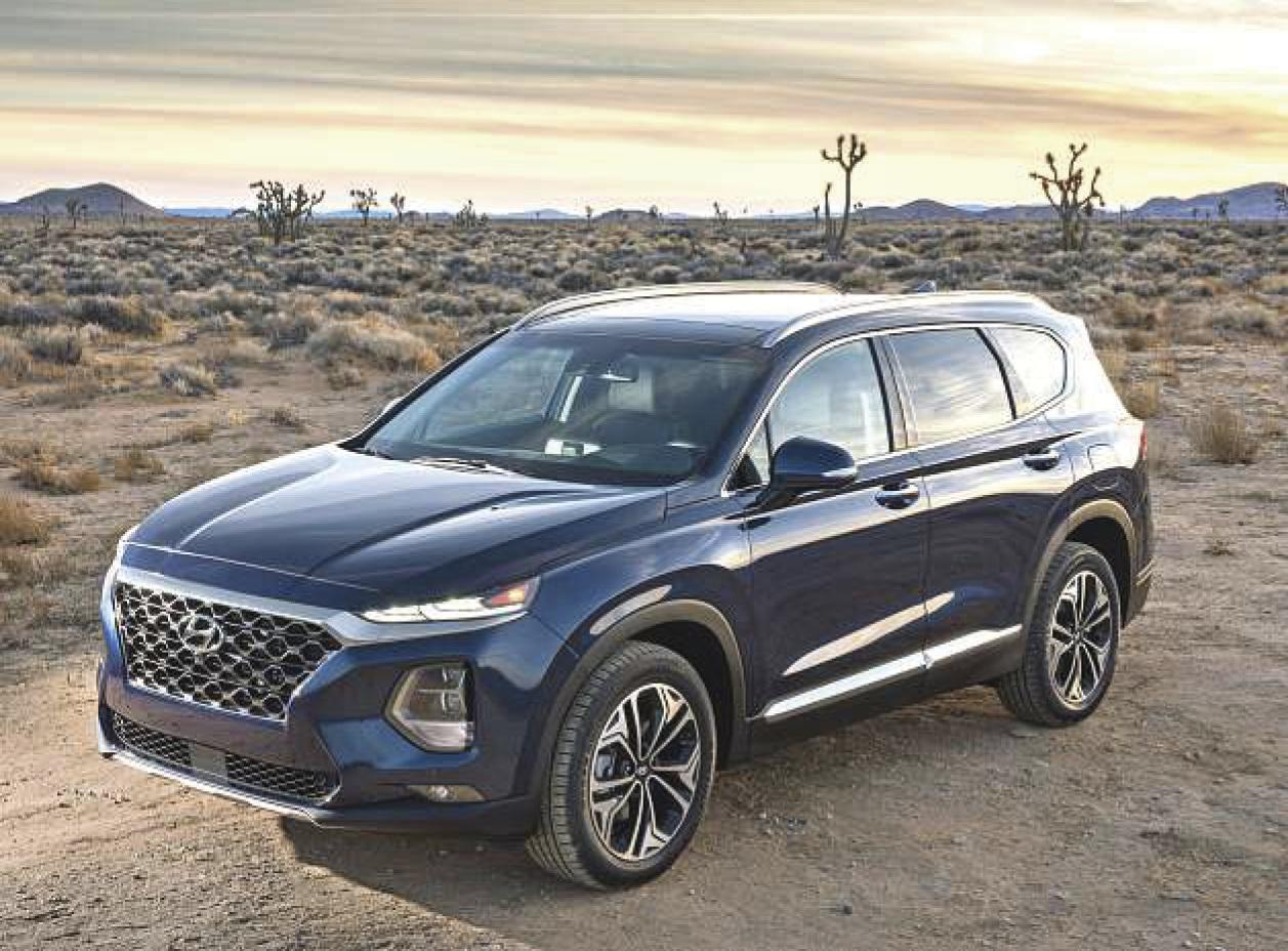Hyundai's five-passenger Santa Fe crossover gets a makeover, shorter name for 2019