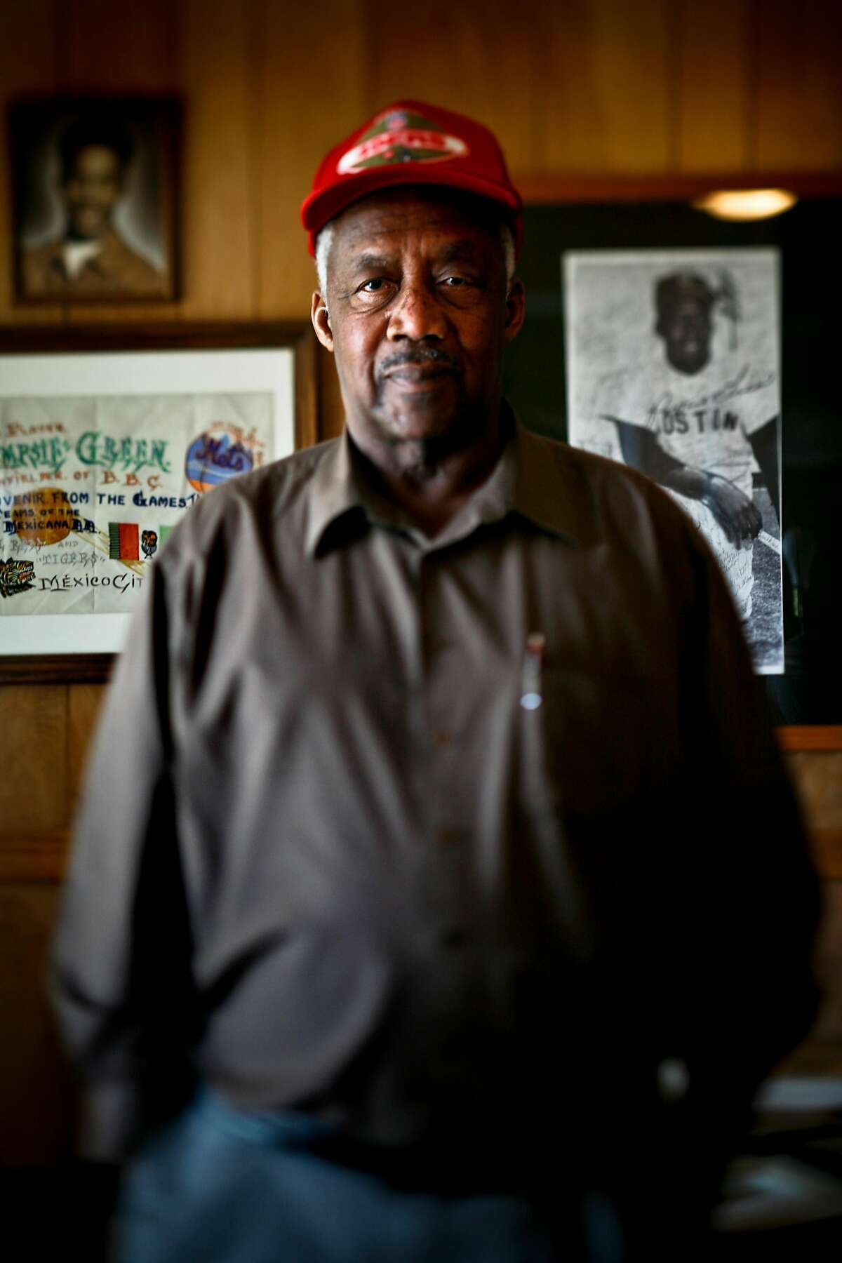 """Elijah """"Pumpsie"""" Green is seen in his El Cerrito home on Wednesday, June 24, 2009. Green was the first African-American player to play for the Boston Red Sox which was the last Major League Baseball team to integrate. He started with the team in 1959."""
