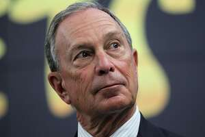 NEW YORK, NY - APRIL 13:  New York City Mayor Michael Bloomberg looks on during a news conference on April 13, 2012 in New York City.  NYC Mayor Michael Bloomberg and NYC and Co. announced today that the Muppets will act as New York City's official family ambassadors for the next year. The Muppets will will encourage family travel to New York City by highlighting the best ways for families to experience the city.  (Photo by Justin Sullivan/Getty Images)