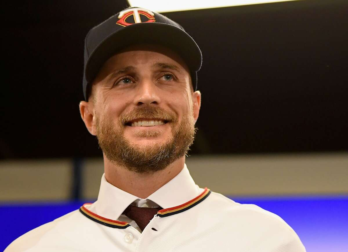 MINNEAPOLIS, MN - OCTOBER 25: Manager Rocco Baldelli of the Minnesota Twins poses for a photo as he is introduced at a press conference at Target Field on October 25, 2018 in Minneapolis, Minnesota. (Photo by Hannah Foslien/Getty Images)
