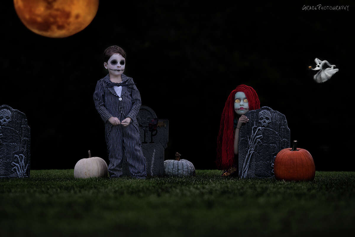 League City photographer Amanda Cortez said her Halloween photo shoots are what she is sought out for.Anyone who has seen some of her work where she transforms children into dark characters like Jack Skellington & Sally Stitches (pictured here) knows why.