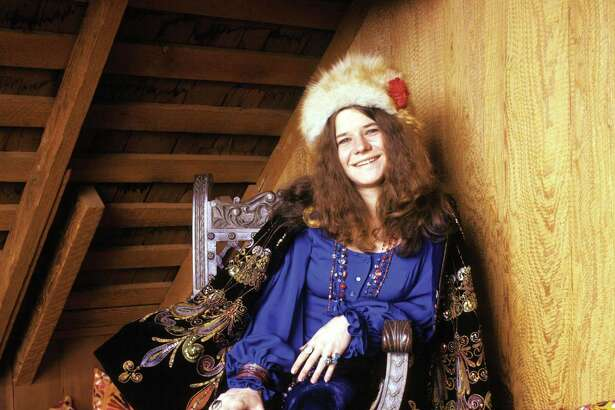 Janis Joplin at Spaulding Taylor's house in San Francisco
