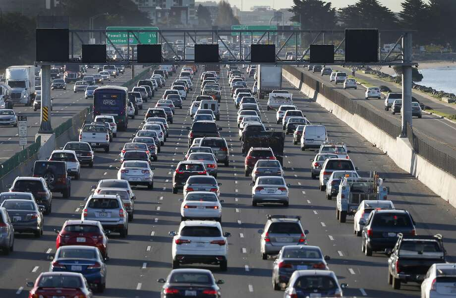 Commuters on Interstate 80. A new poll shows most Bay Area voters are in favor of new housing production -- as long as it doesn't make traffic worse. Photo: Paul Chinn / The Chronicle