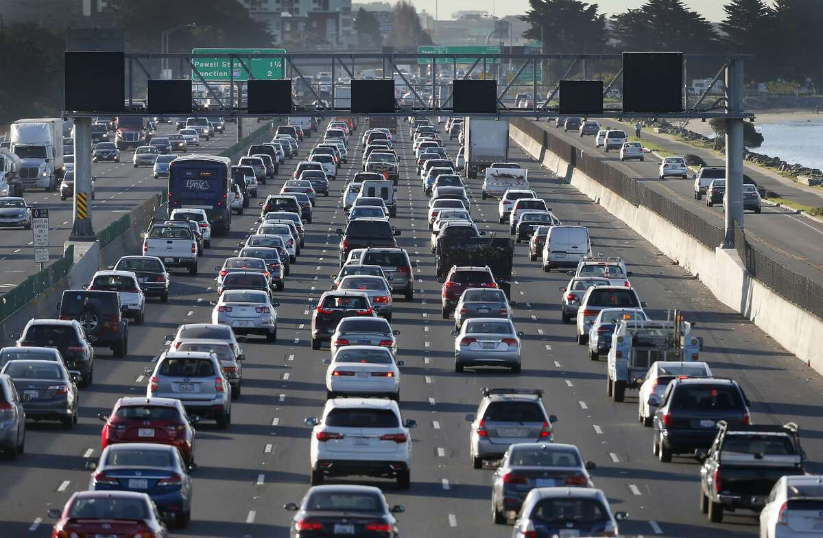 Commuters on Interstate 80. A new poll shows most Bay Area voters are in favor of new housing production -- as long as it doesn't make traffic worse.