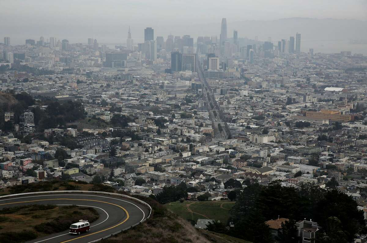 The view from Twin Peaks in San Francisco, Calif., on Tuesday, Jan. 2, 2018.