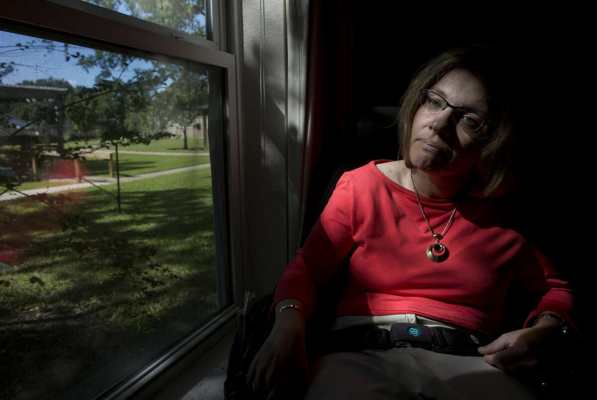 Angela Panzica, who relies on a wheelchair, finds it difficult to maneuver on Houston streets.