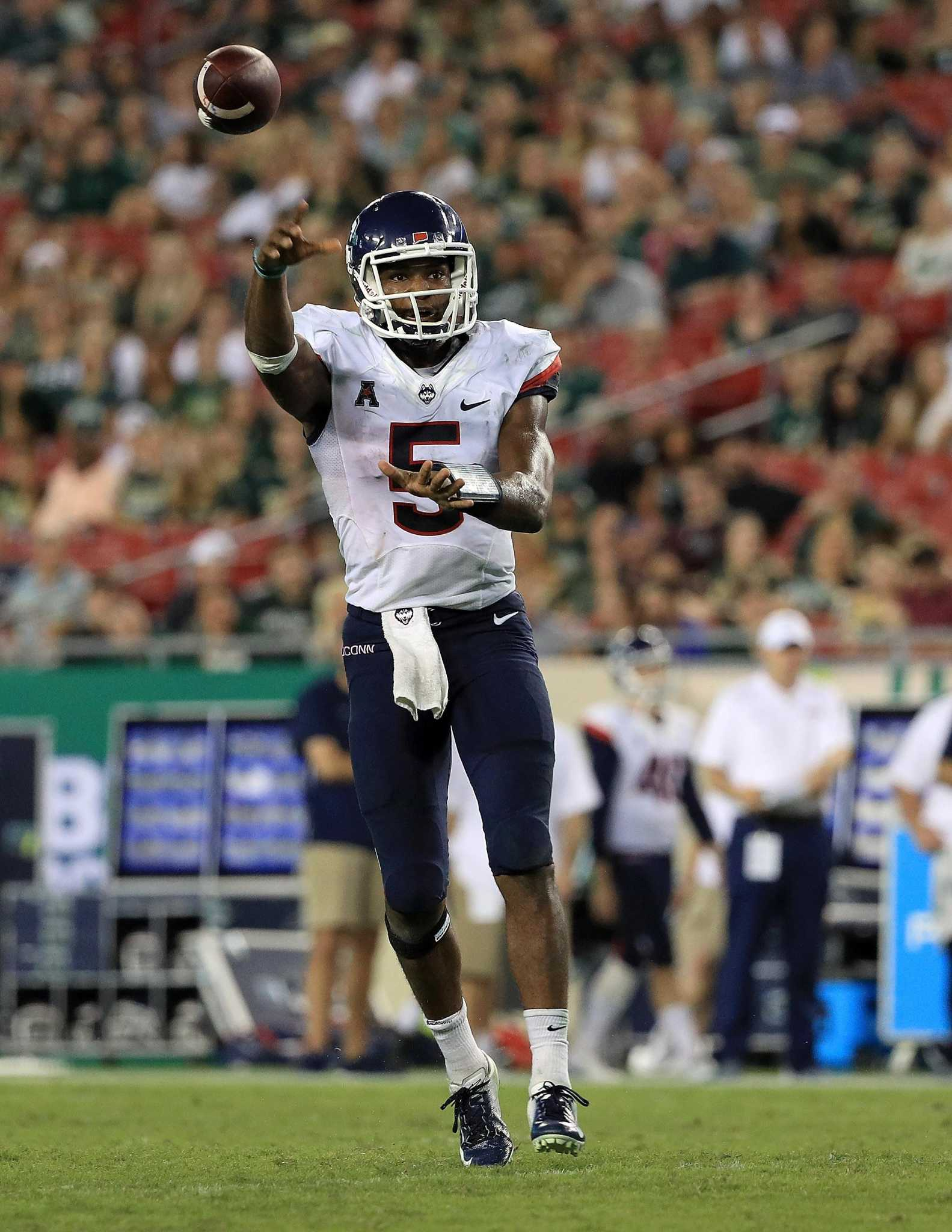 UConn QB David Pindell on verge of running into the record