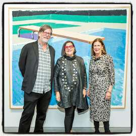 Minnesota Street Project founders Andy and Deborah Rappaport (left) with Eleanor Notices at the Christies preview-dinner. Oct. 16, 2018.