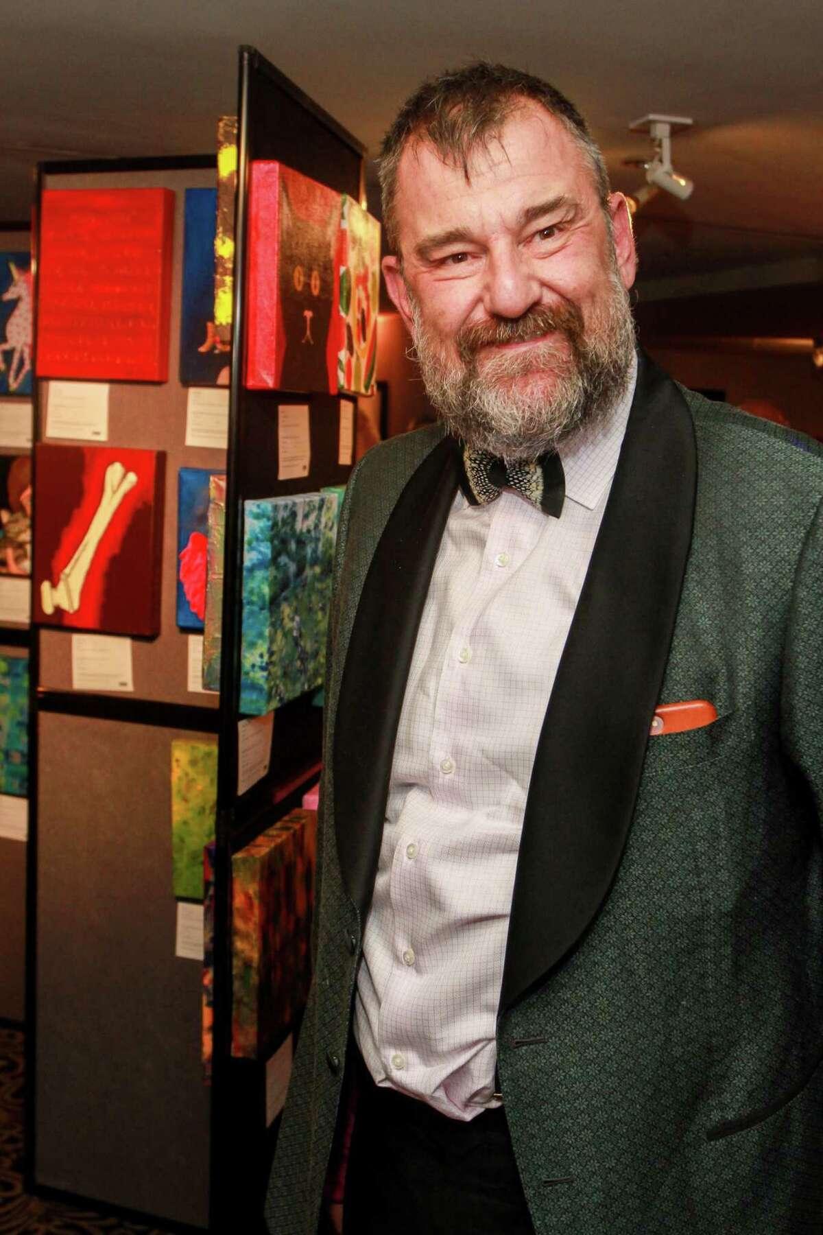 Bill Arning at the Art League Houston Myth & Symbol gala in 2017.