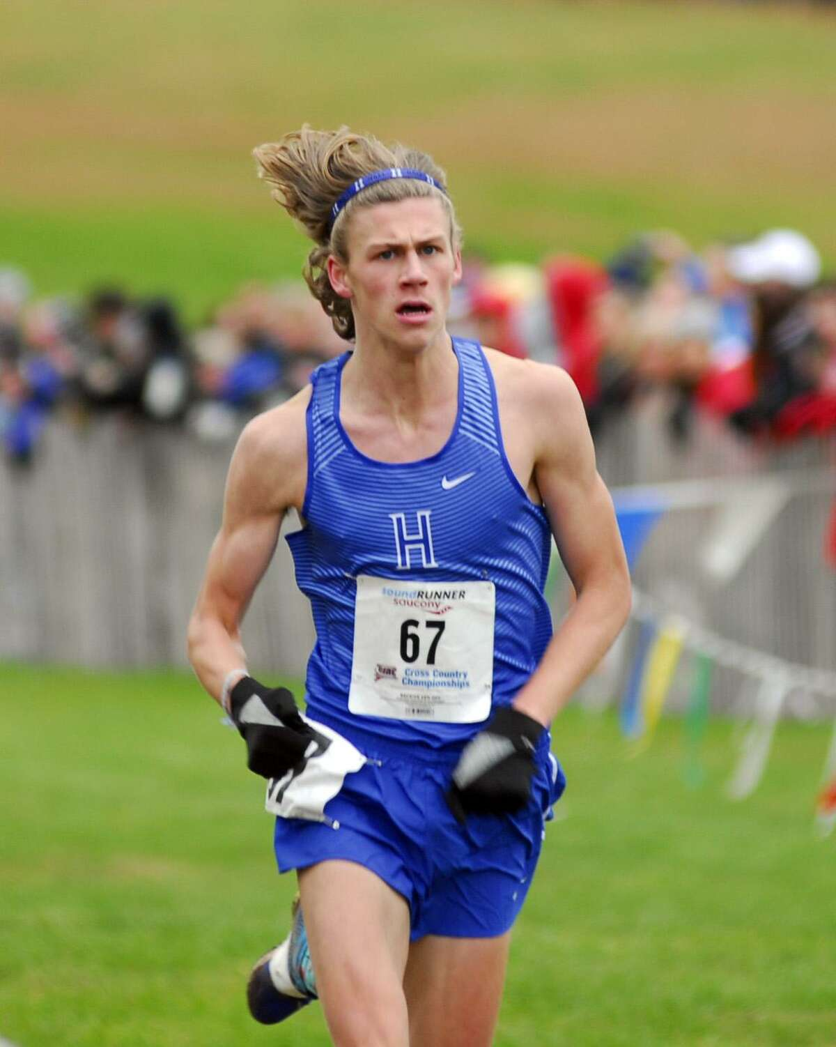 Hall's Miller Anderson won the Class LL race on Friday at Wickham Park.