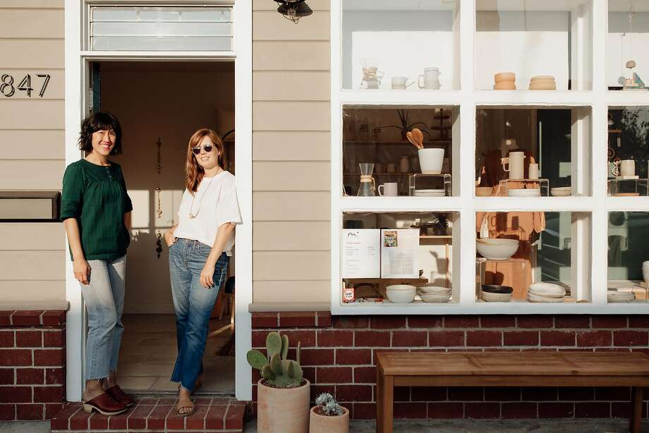 Lisa Jackson (left) and Lisa Fontaine co-own lifestyle shop Morningtide. Photo: Marble Rye Photography