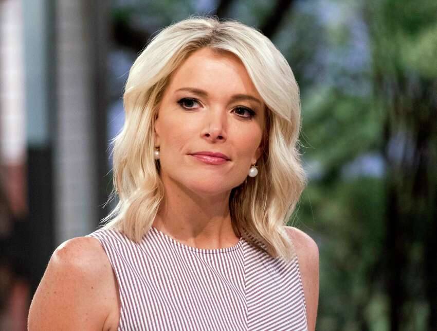 FILE - This Sept. 21, 2017 file photo shows Megyn Kelly on the set of her show,