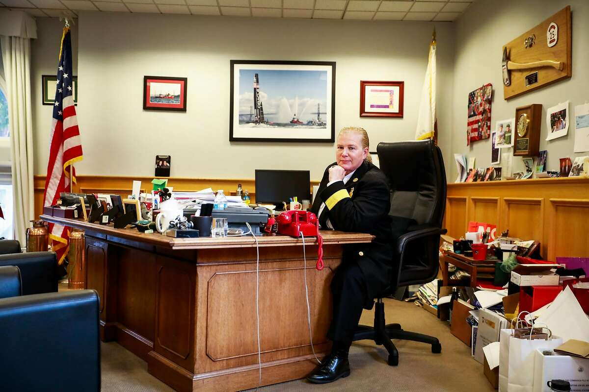 San Francisco Fire Chief Joanne Hayes-White sits for a portrait in her office in San Francisco, California, on Monday, Oct. 22, 2018.