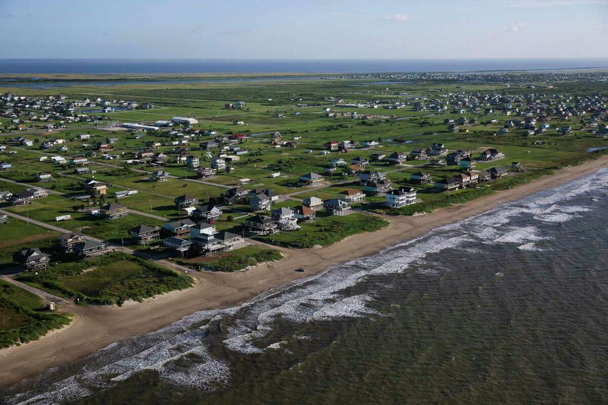 Aerial view of the Bolivar Peninsula Wednesday, September 7, 2016. ( Michael Ciaglo / Houston Chronicle )