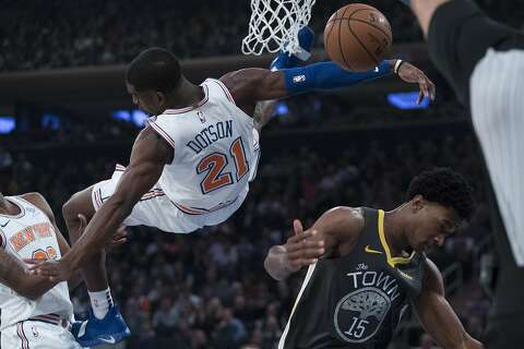 fdd0380affb Kevin Durant tantalizes New York fans as Warriors rout Knicks - SFGate