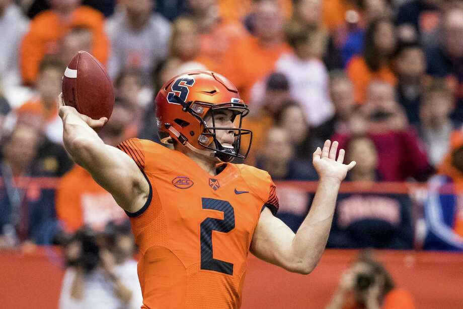 SYRACUSE, NY - OCTOBER 20:  Eric Dungey #2 of the Syracuse Orange passes the ball during the first half against the North Carolina Tar Heels at the Carrier Dome on October 20, 2018 in Syracuse, New York.  (Photo by Brett Carlsen/Getty Images) Photo: Brett Carlsen / 2018 Getty Images