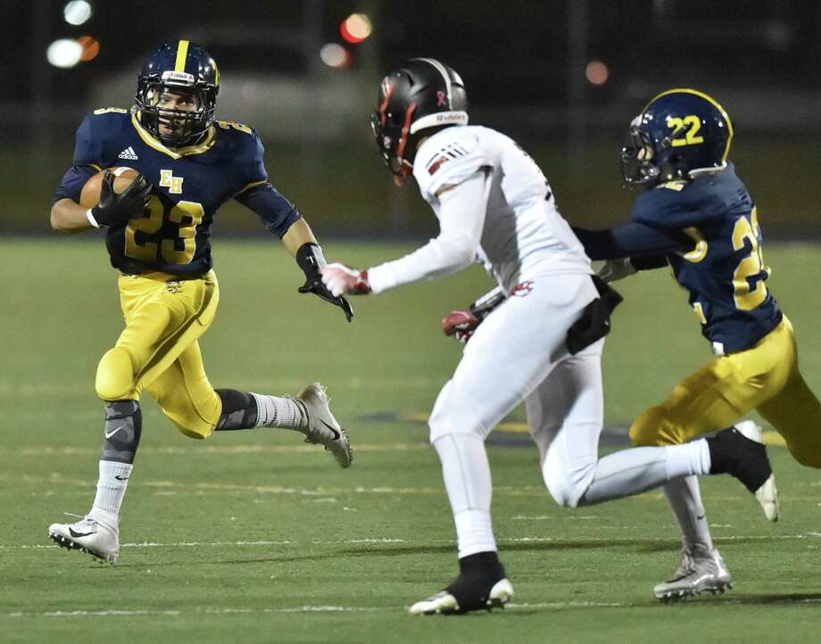 East Haven, Connecticut - Friday, October 26, 2018: East Haven High School football vs. Wilbur Cross H.S. first-half action Friday night at East Haven. Photo: Peter Hvizdak / Hearst Connecticut Media / New Haven Register