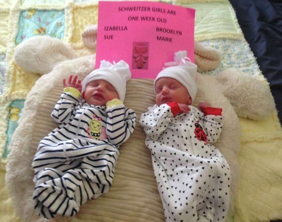 Twin girls were born Sept. 16 to Adam and Kayla Schweitzer of Bay Port at McClaren Thumb Region in Bad Axe. The girls names are Brooklyn and Izabella. Grandparents are Sue and Dennis Schweitzer, Lisa Bruce and Mike and Janie Faupel. (Submitted Photo)