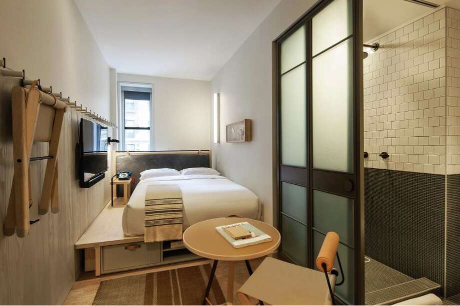 This is a 150 sq foot double bedded room at the Marriott Moxy  Times Square NYC Photo: Marriott