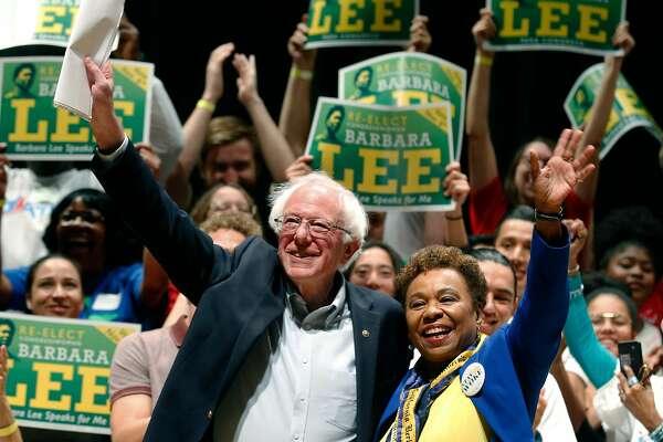 Bernie Sanders warms up his 2020 engine by bashing Trump in Berkeley