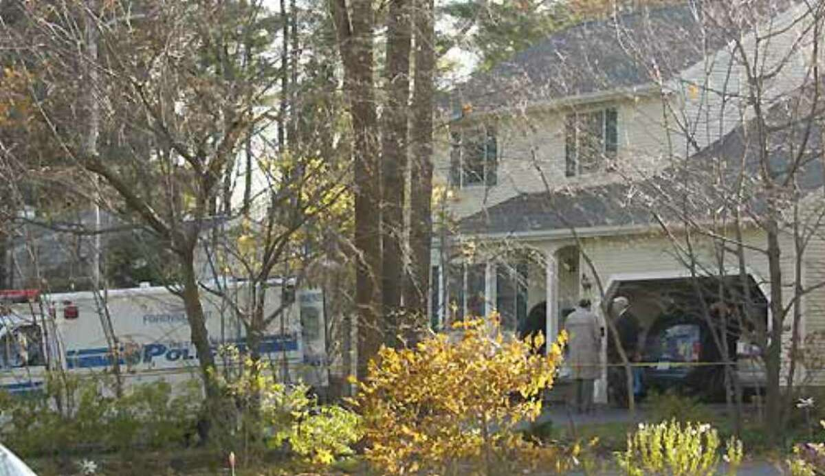 Bethlehem and state police, as well as the Albany County district attorney's office, work on the investigation of a homicide at 36 Brockley Drive in Bethlehem on Monday, Nov. 15.