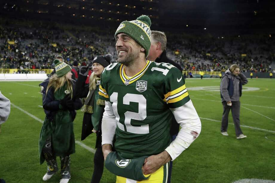 Quarterback Aaron Rodgers and the Packers face the Rams in Los Angeles on Sunday as 9-point underdogs. Photo: Matt Ludtke / Associated Press / Copyright 2018 The Associated Press. All rights reserved.