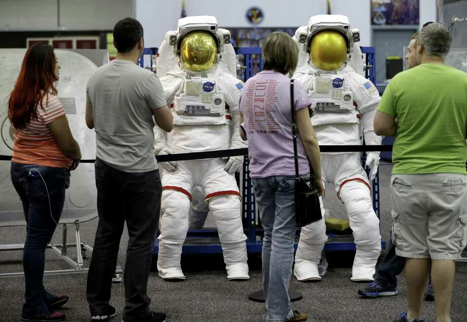 People tour the Space Vehicle Mockup Facility in Building 9NW during the open house at NASA Johnson Space Center Saturday, Oct. 27, 2018, in Houston. Photo: Melissa Phillip, Houston Chronicle / Staff Photographer / © 2018 Houston Chronicle