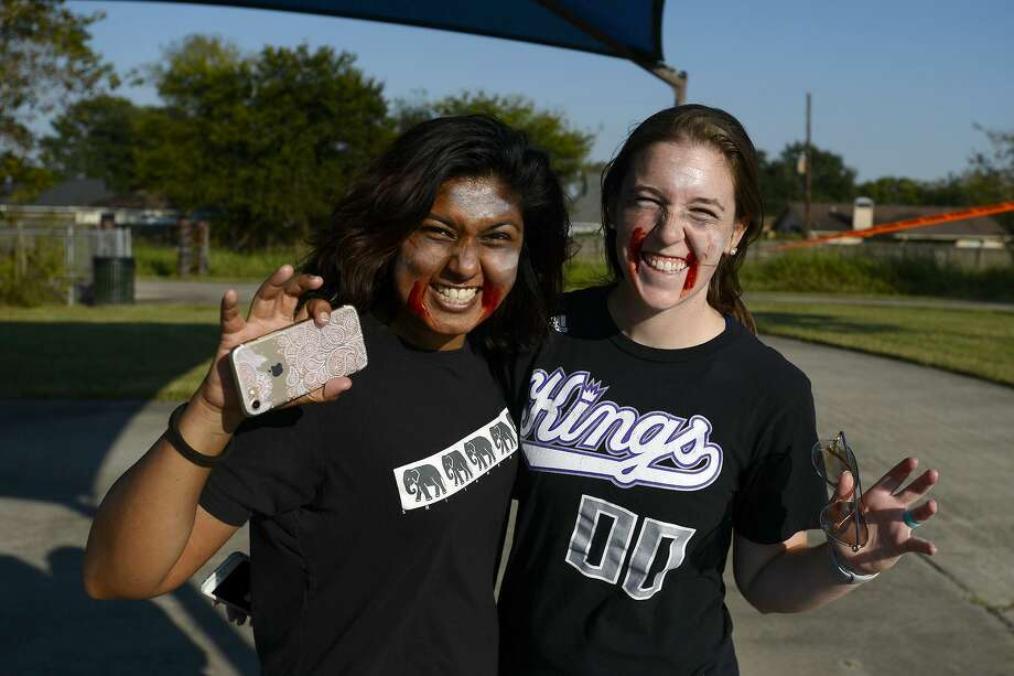 Zombies Nileneri Senanayake and Caitlyn Noble during the Zombie Run 5K at the Gulf Terrace Hike and Bike on Saturday afternoon. The run was a fundraiser for the Boomtown Film and Music Festival.    Photo taken Saturday 10/27/18  Ryan Pelham/The Enterprise Photo: Ryan Pelham / The Enterprise / ©2018 The Beaumont Enterprise