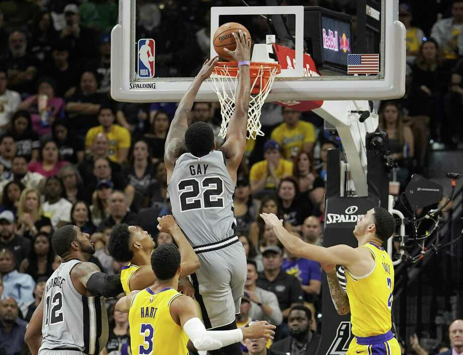 df13f30018b7 Spurs prevail again in rematch with Lakers - San Antonio Express-News