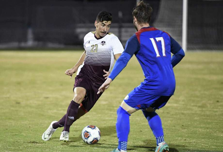Cem Izgec had an assist and four shots in the Dustdevils' 3-2 victory at Rogers State on Saturday. Photo: Danny Zaragoza /Laredo Morning Times File