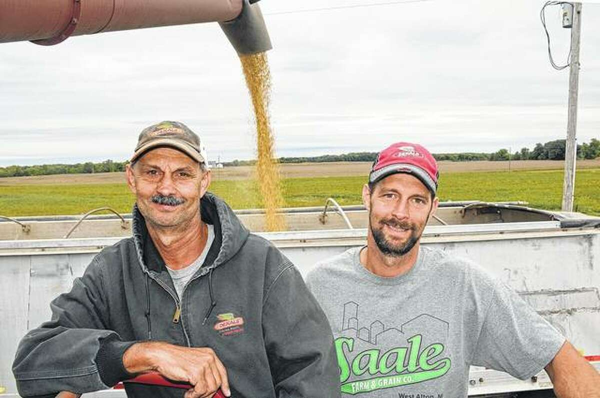 Edwardsville father and son Gary and Edward Knecht harvested corn this year, but plan to add an industrial hemp crop in 2019.