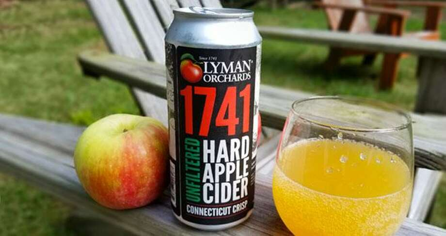 Lyman Orchards just launched its Hard Apple Cider 1741 Connecticut Crisp. Shannon Edgar, John Lyman's sweet apple cider producer, is founder/owner of Stormalong Cider of Sherborn, Massachusetts. Lyman sends him bushels of apples, mostly MacIntosh, which are then blended with other varieties from Vermont and Massachusetts, to make the low-alcohol beverage. Photo: Contributed Photo