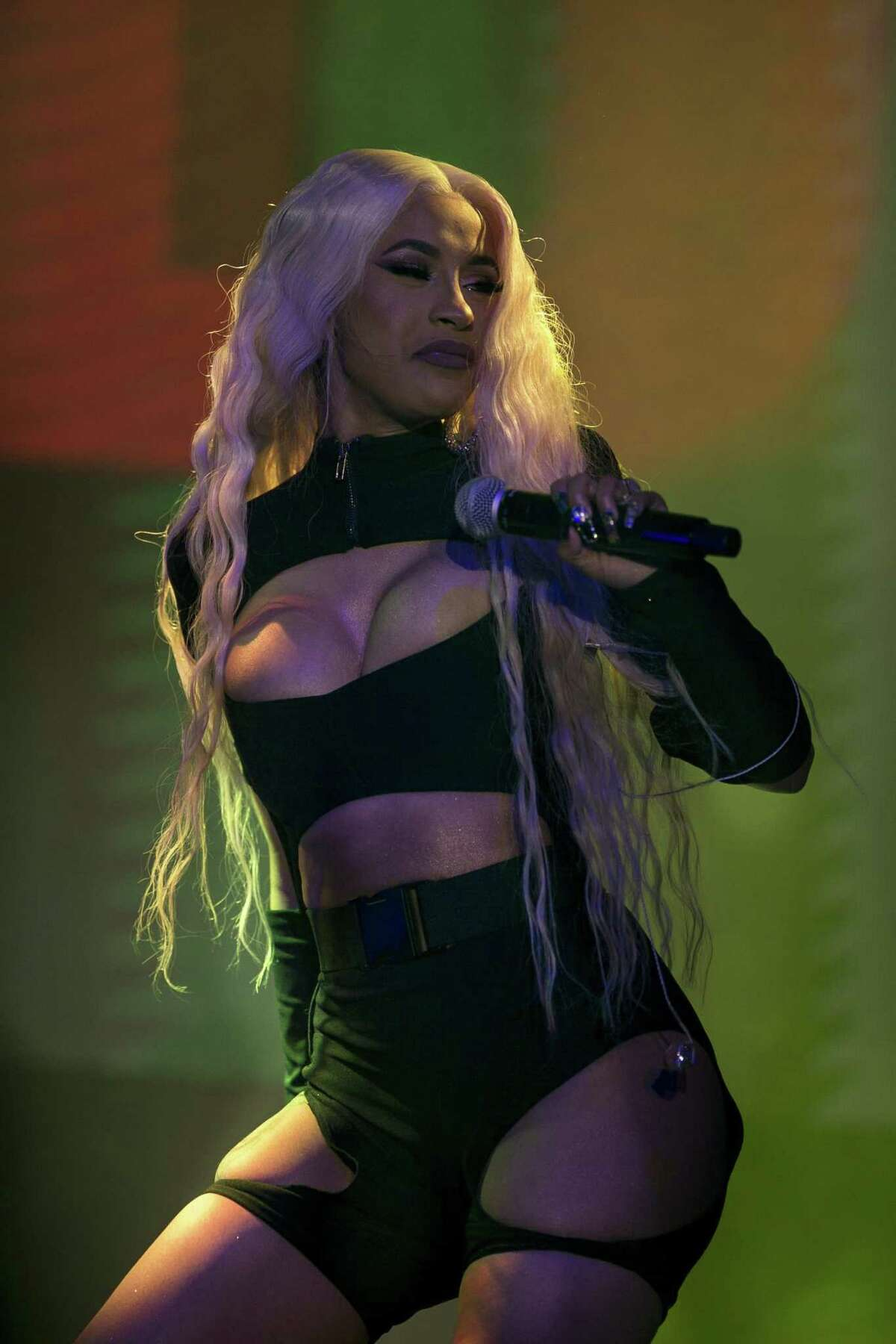 Cardi B performs on the Lone Star stage at the annual Mala Luna Music Festival held at Nelson Wolff Stadium, Saturday, Oct. 27, 2018.