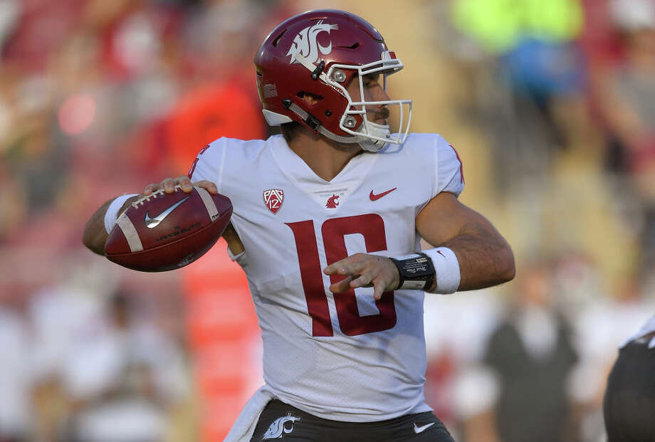 1. Washington State Cougars (7-1, 4-1)Crazy as it seems now, this Cougars team was supposed to have a down year. Instead, they've silenced any doubters with a white-hot 7-1 start fueled by quarterback Gardner Minshew. With a winnable final four games (Cal, Colorado, Arizona, Washington), the Cougs have a clear path to the Pac-12 title game and, by extension, a possible College Football Playoff appearance. Since losing to USC by a field goal in week four, the Cougs have been rock solid, with wins over Utah, Oregon and Stanford. That run hasn't been without concerns, as the WSU defense has been worryingly porous at times, allowing over 35 points in three of their last four games. Minshew's near-perfect operation of head coach Mike Leach's signature air raid offense to the tune of 40.3 points per-game has allowed them to emerge unscathed thus far. Facing a Washington team that's allowing just 171.1 passing yards per game will likely push this team to its limits in the final week of the season.   Photo: Thearon W. Henderson/Getty Images / 2018 Getty Images