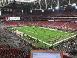 State Farm Stadium, in Glendale, Arizona, where the 49ers and Cardinals will play on Oct. 28, 2018.