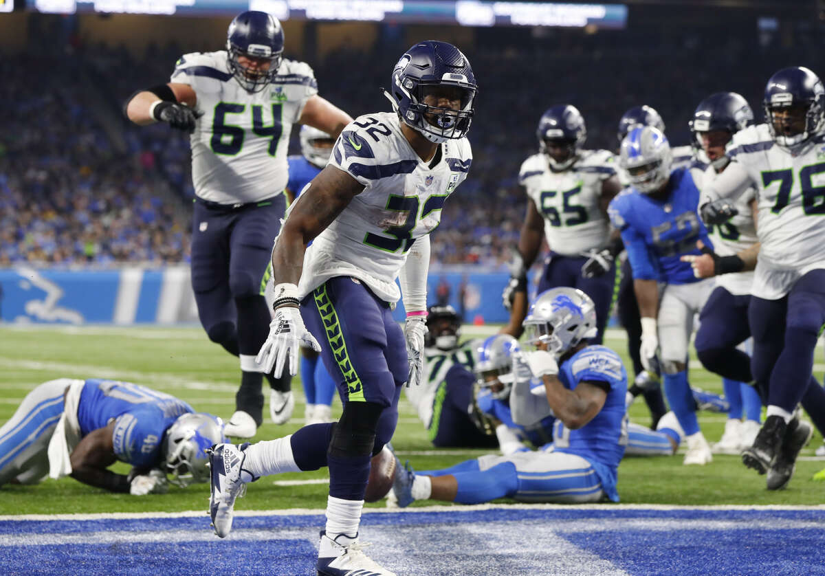 CHRIS CARSON PASSED THE CENTURY MARK  The starting tailback rushed 25 times for 105 yards and his second-career touchdown on Sunday. It marked the third time in four games that he's rushed for 100+ yards.