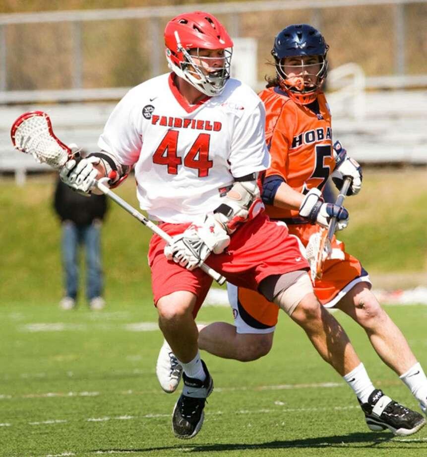 John Snellman, of Norwalk, plays for Fairfield University's men's lacrosse team. Photo: Contributed Photo / Fairfield University