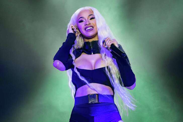 Cardi B performs at the Mala Luna Music Festival on Saturday.