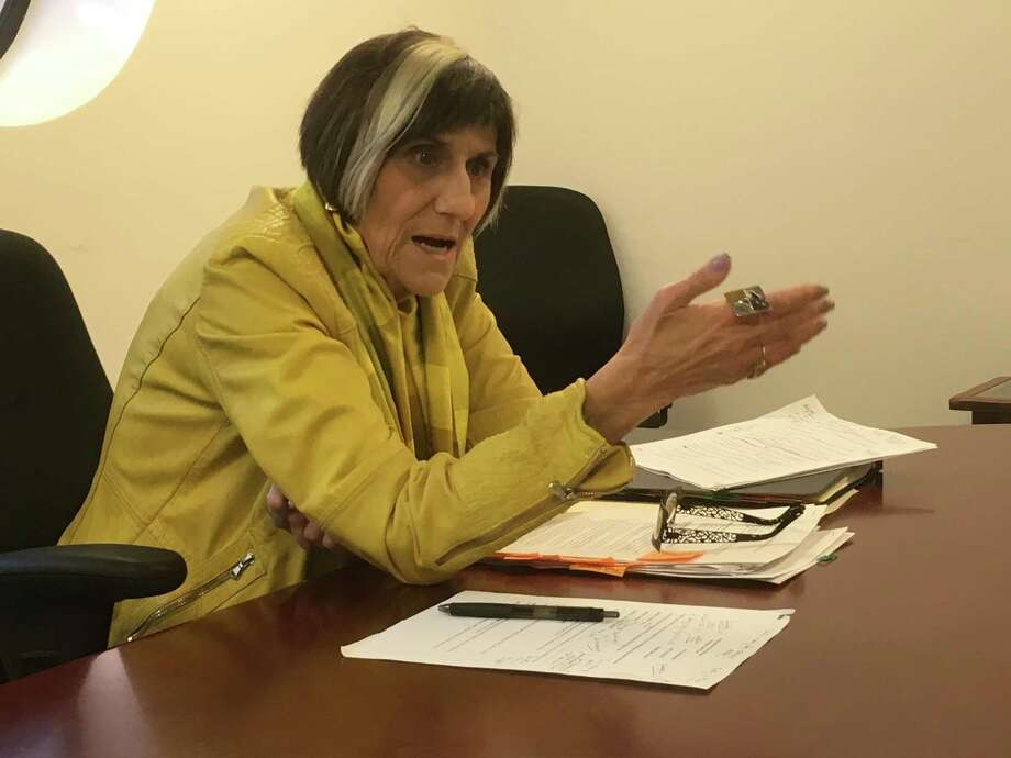 U.S. Rep. Rosa DeLauro makes a point while speaking to the New Haven Register / Hearst Connecticut Media Editorial board recently. Photo: Hearst Connecticut Media /