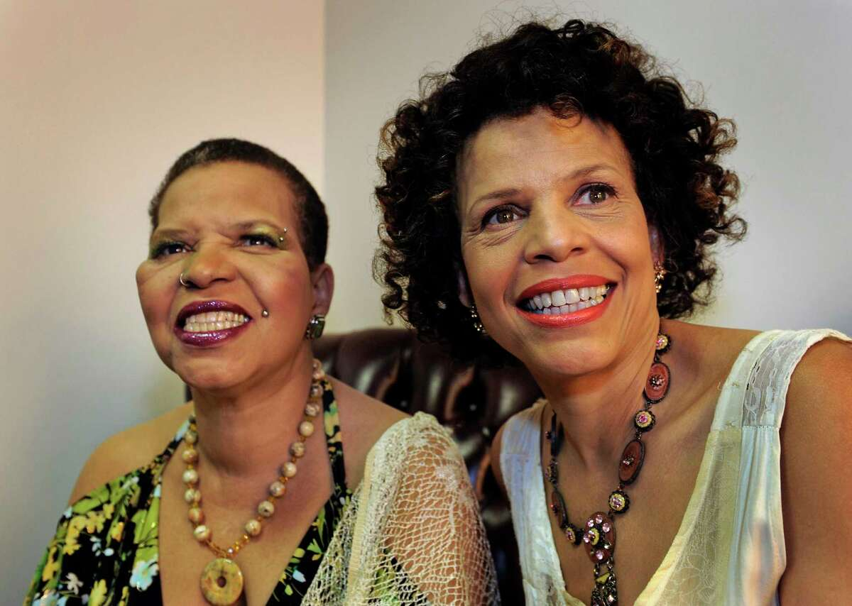 """Ntozake Shange, left, and her sister Ifa Bayeza, with whom she co-wrote the novel """"Some Sing, Some Cry."""""""