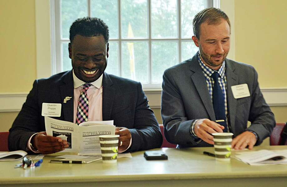 From left are Democratic candidates: for the 100th House, Quentin Phipps; and 23rd District House, Matthew Pugliese. Photo: File Photo
