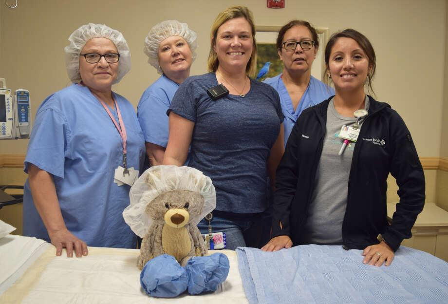 Bring your favorite stuffed animal to the second annual Fall Festival and Teddy Bear Hospital at Covenant Healthcare Center Plainview. Members of Covenant Health's surgical staff, including; Adriana Esquivel, EVS; Instrument Tech, Jeanie Moreno; Whitney Wallace, RN, Instrument Tech Maria Riojas and Vanessa Hernandez, RN will help get your stuffed animals back in shape as they will sew any torn or hurt plush toys back to normal. Photo: Courtesy Photo/Covenant Health Plainview