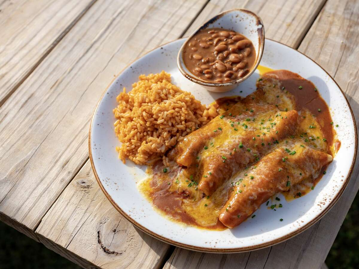 The brisket enchiladas at Killen's TMX are a must-try.