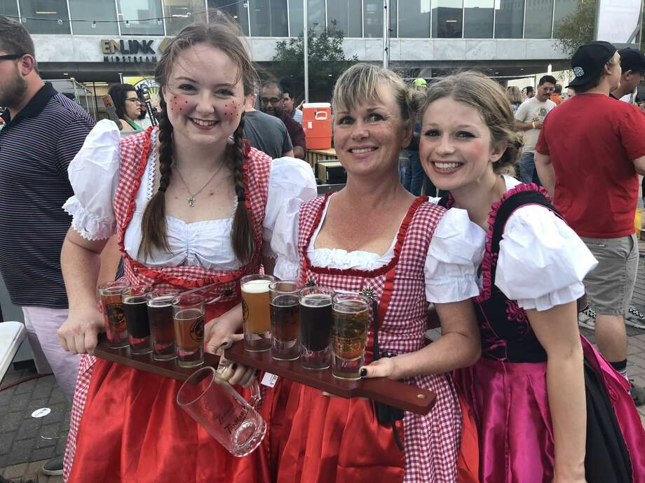 Oktoberfest: Bailee Hall, from left, Kasey Kelly and Savannah Cantwell Photo: Courtesy Photo