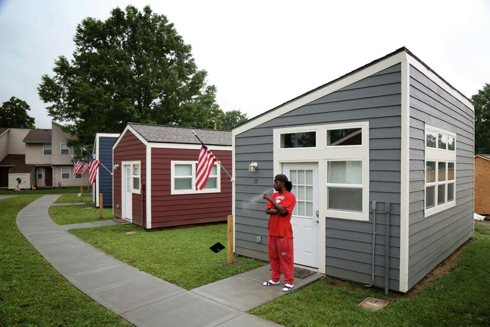 Tiny Houses Catch On In War Homelessness