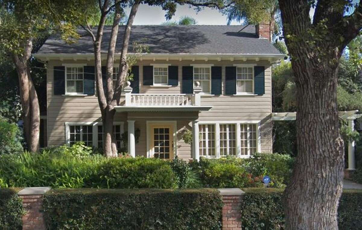 """The house where Laurie baby-sits Tommy in the movie """"Halloween."""" Location: West Hollywood, CAEstimated value: $2,694,400Median listing price in 90046: $1,800,100"""