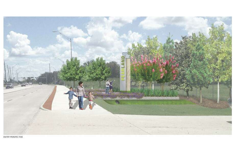 A yearlong project will beautify a 2.5-mile stretch of Texas 35 from Broadway to Beltway 8.