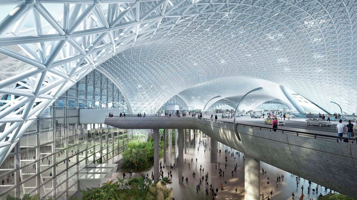 Interior of the planned new Mexico City airport, now scrapped.