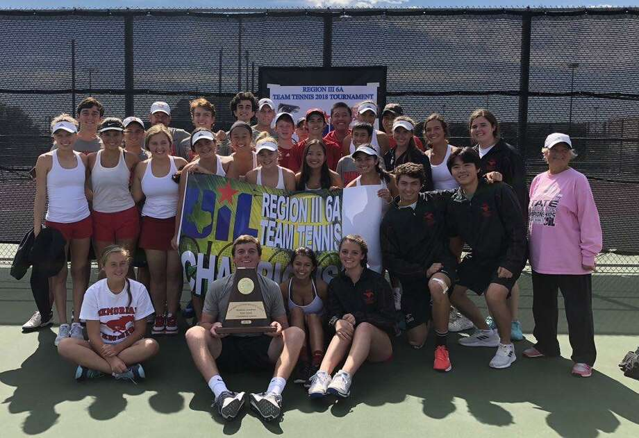 The Memorial tennis team won its 10th consecutive regional championship Oct. 26 with a 10-3 victory against Clements at Deer Park High School. The Mustangs seek a repeat Class 6A state championship this week in College Station.